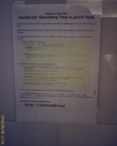 Testing on the toilet
