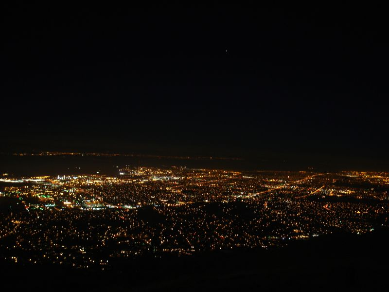 View from Mission Peak at Night