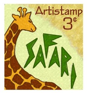 Giraffe Stamp Design - link to Flickr