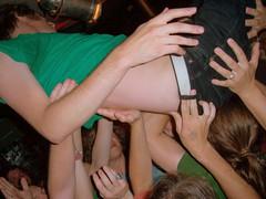 crowdsurfing. [rupert browne, chikinki.]