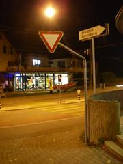 Traffic sign set up properly