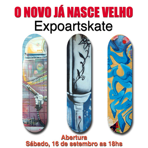 Flyer do Expoartskate na Galeria Central
