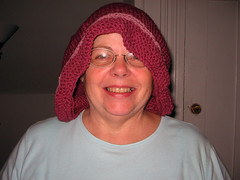 Mom's birthday hat pre-felting
