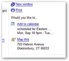 才发现 Gmail 还能自动找出邮件中的时间和地址