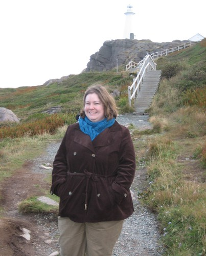 Kirstie at Cape Spear