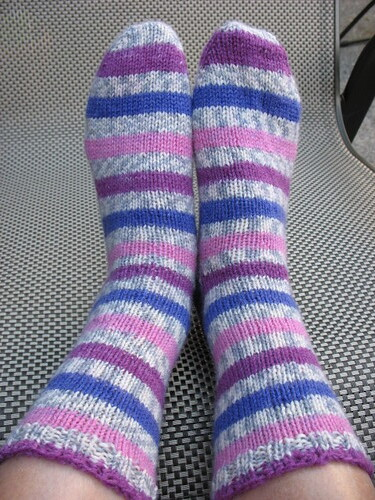 Sock 1 & 2 on