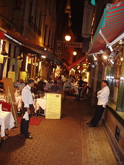 Street of restaurants