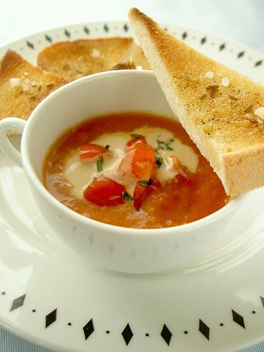 frickr friend's recipe:Curry Peanut Tomato Soup