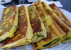 Crispy pancakes filled with egg and scallion  - Shangzhi