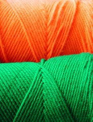 Caron Yarn= Orange and Green