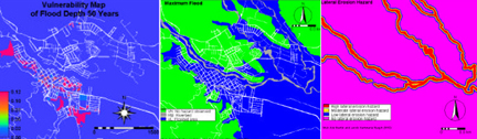CR Vulnerabiliyt Maps for Varying Flood Depths