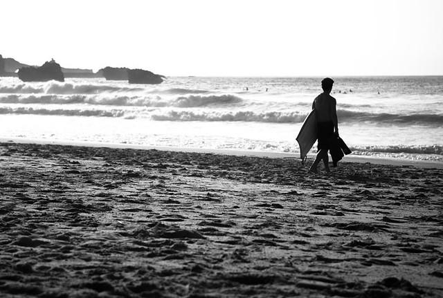 Bodyboarder, Biarritz Beach.