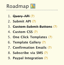 Our New Roadmap List!