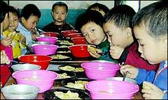 Niños en Corea del Norte (AFP, 2002)