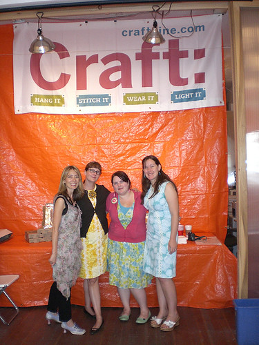 Carla, Cathy, Jenny and me at the CRAFT party
