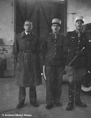 1945-Michel Abalan, Paul Willing et Louis Tritschler- Famille Abalan