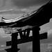 EPCOT Japan Gate (B&W)