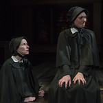 Karen Janes Woditsch (Sister Aloysius) and Eliza Stoughton (Sister James) in DOUBT: A PARABLE at Writers Theatre. Photo by Michael Brosilow.
