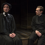 Eliza Stoughton (Sister James) and Steve Haggard (Father Flynn) in DOUBT: A PARABLE at Writers Theatre. Photo by Michael Brosilow.