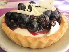 Blueberry-White Chocolate Mousse Tart
