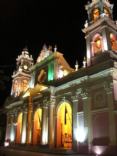 Salta Catedral at Night