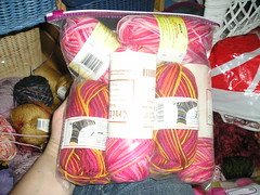 Enough pink sock yarn