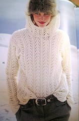 Rebecca - White lace sweater
