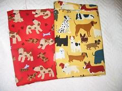 2 dog fabrics