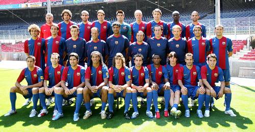 Foto oficial del FC Barcelona 2006-2007