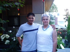 Riz and Sue kinda blurry