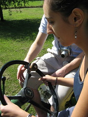 me driving the tractor...