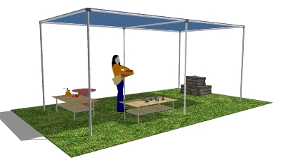 DIY Shade Structure in SketchUp | Simplified Building