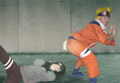 naruto fart's and wins