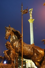 Horse and column