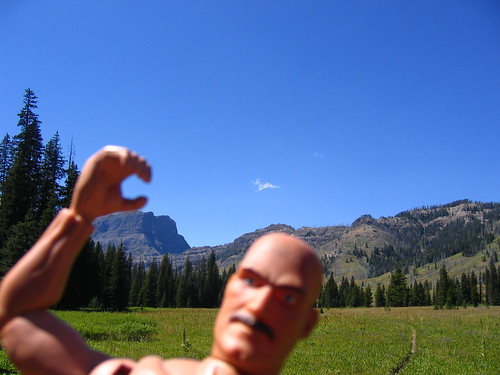 Jesse Ventura Backpacking in Yellowstone, August 2006