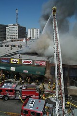 Major Emergency Fire in LA's Fashion District. Click for more images...