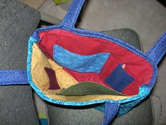 Knitting Bag Inside