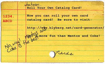 John's example card