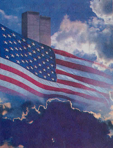 9-11_TwinTowersAmericanFlagClouds