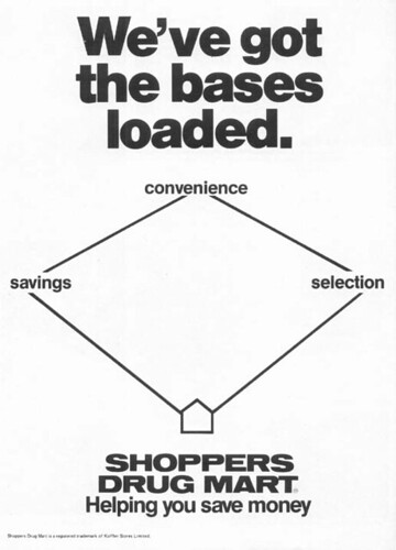 Vintage Ad #61 - Shoppers Drug Mart Loads The Bases