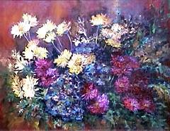 Hortensias y Crisantemos