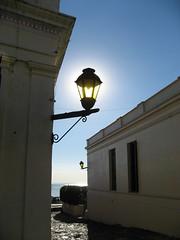 Sun behind a lamp