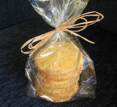 orange polenta cookie bag
