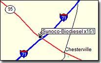 Sunoco location map