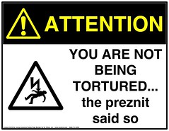 WARNING SIGN - torture