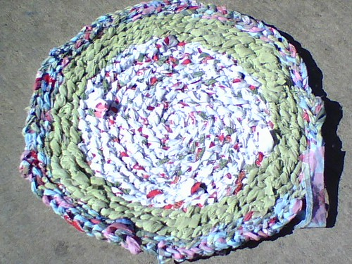 WIP - Crocheted Rag Rug