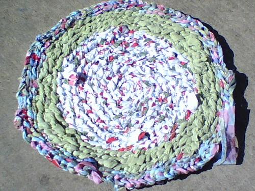 WIP - Crocheted Rag Rug