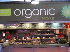 Comida organica en el mercado