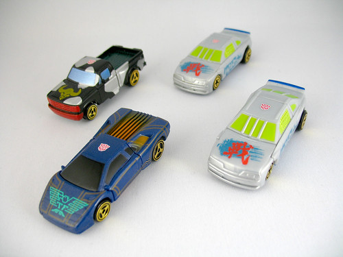 Takara Car Robots Super Spychanger Ox, Eagle Killer, and WARS (x2)