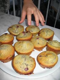muffins pistache griotte